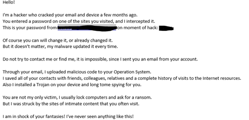 Hacker who cracked your email' scam tries to blackmail you